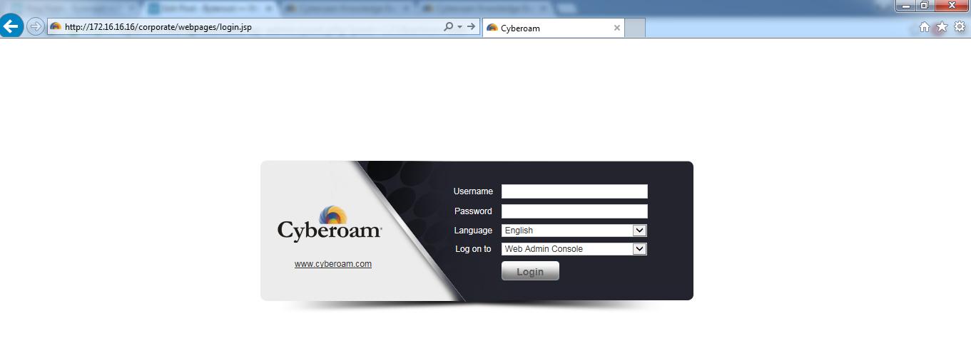 Cyberoam Basic Network Configuration – Byteroot